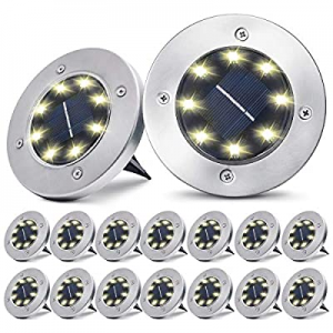 pozzolanas Solar Ground Lights now 50.0% off ,8 LED Solar Garden Lights Outdoor Waterproof in-Upgr..