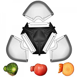 One Day Only!HUSUKU Vegetable Peeler now 40.0% off , Potato Peelers for Kitchen, 3 in 1 Multifunct..