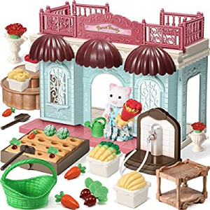 One Day Only!Geyiie Dollhouse Kit Set - 30pcs Doll House Playset and Kids Gardening Set now 80.0% ..