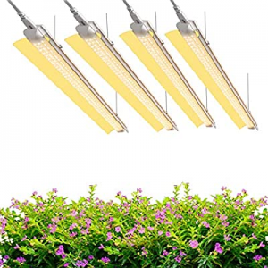 (Pack of 4) SHOPLED Grow Lights 4FT LED Fixture now 40.0% off , Full Spectrum, Warm White, 240W(60..
