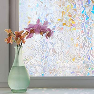 bofeifs Rainbow Window Film Static Cling Decorative Privacy Reusable Glass Film for Home now 51.0%..