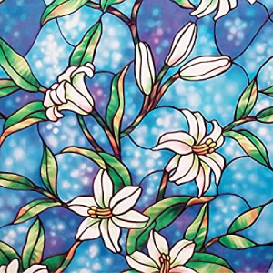 32.0% off Coavas Privacy Window Film Stained Glass Window Film Non-Adhesive Frosted Magnolia Glass..
