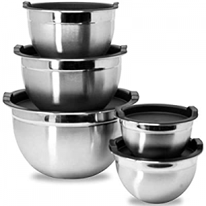 Meal Prep Stainless Steel Mixing Bowls Set now 15.0% off , Home, Refrigerator, and Kitchen Food St..