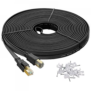 One Day Only!Cat8 Ethernet Cable 50 ft Shielded now 40.0% off , Outdoor&Indoor, Hyper Speed 40Gbps..