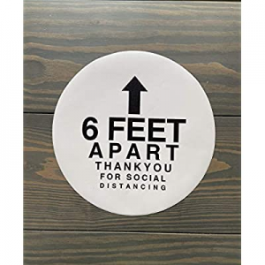 One Day Only!20.0% off Social Distancing Floor Decals | Pack of 5 Commercial Floor Stickers | 12 I..
