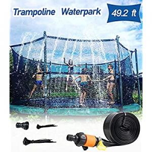One Day Only!60.0% off AOJI Trampoline Sprinkler for Outdoor Kids Trampoline Backyard Water Yard S..