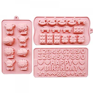 MOMOCAT 3PCS Halloween candy moulds now 50.0% off ,Gummy Bear Moulds Ice Cube Moulds Tray, Chocola..