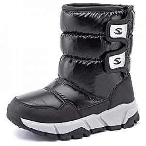 35.0% off UBFEN Kids Snow Boots Boys Girls Winter Warm Waterproof Outdoor Slip Resistant Cold Weat..