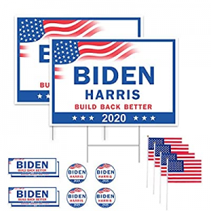 "30.0% off GameXcel 18"" x 26"" Large Biden Harris Yard Sign 2020 - Build Back Better Biden for Presi.."