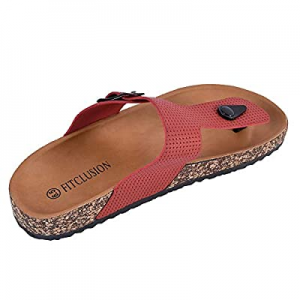 50.0% off JENN ARDOR Women's Thong Slide Sandals Slip on Cork Slides Flat Shoes with Strap Adjusta..