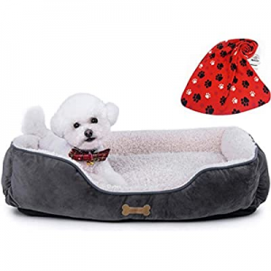 Allisandro Dog Bed | Super Soft Sherpa Dog Crate Bed | Removable Shell and Machine Washable Dog Sl..