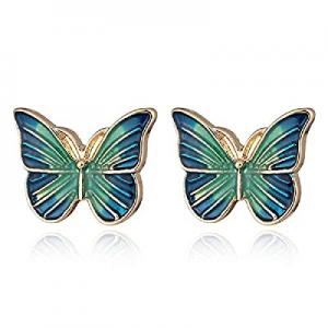 Butterfly Stud Earrings for Women, Fashion Hypoallergenic Earrings now 50.0% off