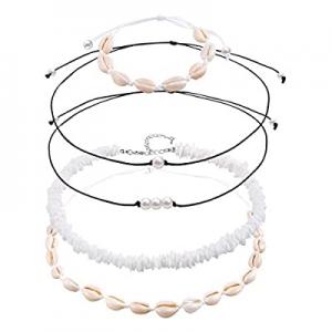 50.0% off VANGAY Pearl Shell Necklace Choker for Women Girls Handmade Puka Seashell Necklace Jewel..