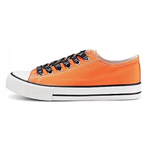 One Day Only!45.0% off JENN ARDOR Women's Canvas Sneakers Low Top Lace-Up Classic Casual Shoes Fas..