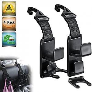 One Day Only!Heroway Magic Headrest Hooks for Car now 40.0% off , Purse Hanger Headrest Hook Holde..