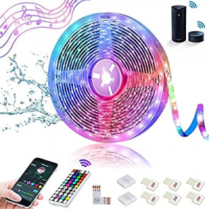 One Day Only!SHOPLED Smart WiFi LED Strip Lights Compatible with Alexa 16.4ft Waterproof Music Syn..