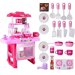 【Ship from USA】 Kids Play Kitchen丨Kids Play Kitchen with Toy Accessories Set now 80.0% off , Best ..