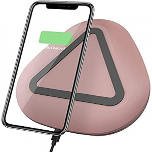 50.0% off Wireless Charger Qi-Certified Ultra-Slim Wireless Charger Pad Compatible iPhone Xs/Xs Ma..