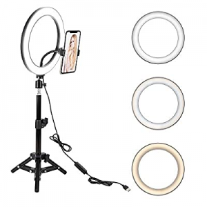 """10"""" LED Selfie Ring Light with Tripod Stand & Cell Phone Holder for Live Stream/Makeup now 50.0% o.."""
