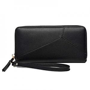 50.0% off KOWENTIK Women Wallet Leather Zip Phone Clutch Large Travel Organizer Zipper Coin Purse ..