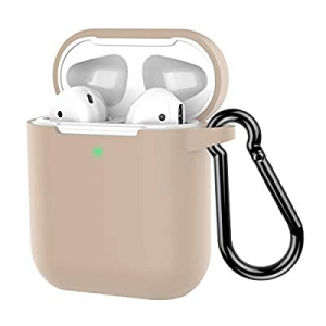 Coffea Protective Silicone Case with Keychain for Apple AirPods 2 (Ivory Yellow) now 66.0% off