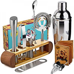 TJ.MOREE Bartender Kit with Stand now 15.0% off , 11-Piece Bar Tool Set Cocktail Set Perfect Home ..