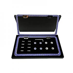 One Day Only!40.0% off PRETTYGAGA Bling Narrow Blue License Plate Frame Luxury Handmade Waterproof..