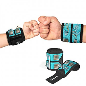 GEARDRIVE Magnetic Wristband now 50.0% off , Strong Magnets for Holding Screws, Nails, Bolts, Dril..