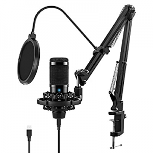 USB Microphone Kit for Computer now 50.0% off , JEEMAK Professional Condenser Microphone Set with ..