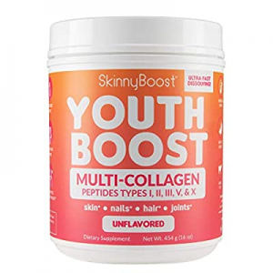 Youth Boost Advanced Multi Collagen Powder - 5 Types of Hydrolyzed Collagen Peptides for Hair now ..