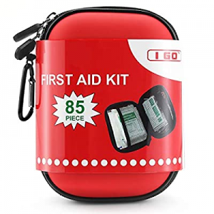 I GO 85 Pieces Hard Shell Mini Compact First Aid Kit now 30.0% off , Small Personal Emergency Surv..