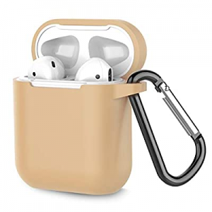 70.0% off Coffea Protective Silicone Case with Keychain for Apple AirPods 1 & 2 (Front LED Not Vis..