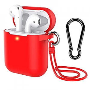 AirPods Case with Keychain now 60.0% off , Coffea Silicone Protective Case with Stap for AirPods 2..