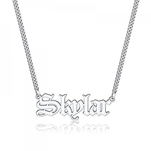 One Day Only!Iefil Custom Name Necklace Personalized now 55.0% off , Stainless Steel Old English C..