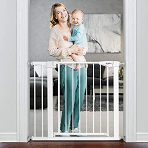 RONBEI Baby Gate for Stairs Doorways now 30.0% off , 29.53''- 32.28''/ 35''-38'' Auto Close Safety..
