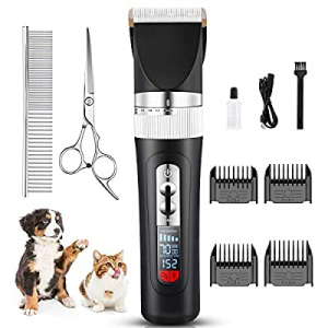 JOEJOY Dog Grooming Clippers Professional USB Rechargeable Cordless Low Noise 33 Teeth Blade Dog S..