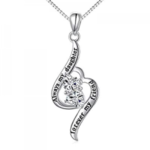 One Day Only!40.0% off 925 Sterling Silver Always My Sister Daughter Mother Forever My Friend Love..