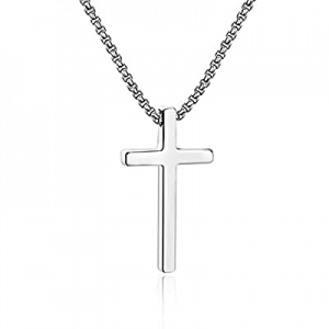 IEFSHINY Cross Necklace for Men now 50.0% off , Stainless Steel Cross Pendant Necklaces for Men Pe..
