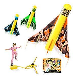 One Day Only!Kidpal Rocket Launcher Toy for Kids 3 4 5 6 7 8 Years Boy & Girl now 50.0% off , Rock..