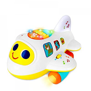 55.0% off Baby Toys 6 to12 18 Months Light Up Moving Musical Airplane Toys for 1 2 3 year old Boys..