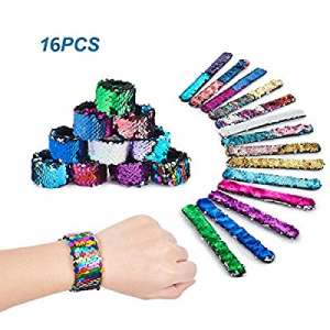 Mermaid Slap Bracelets Little Mermaid Magic Charm Reversible Sequin Slap Bracelets now 50.0% off ,..