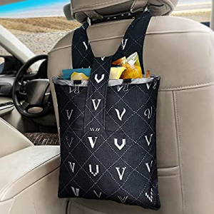 One Day Only!Car Trash Bag Hanging Front Seat now 40.0% off , LENDOUBLE Waterproof Garbage Can for..