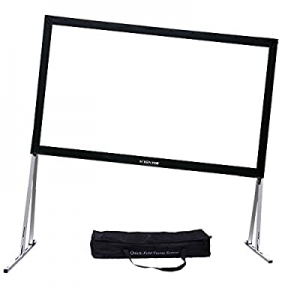 """SCREENPRO Projector Screen with Stand Adjustable Legs (Max 46.9"""") 150"""" Portable Outdoor Fast-Foldi.."""