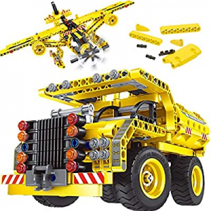 50.0% off Gili STEM Building Toy for Boys 8-12 - Dump Truck or Airplane 2 in 1 Construction Engine..