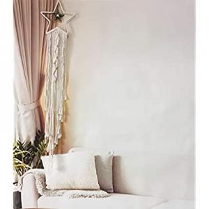 Boho Decor Macrame Wall Hanging now 40.0% off , Coolqiya Woven Boho Bedroom Decor Dream Catcher, W..