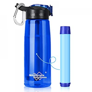 Membrane Solutions Water Filter Bottle now 20.0% off , 0.1 Micron 4 Stage Ultra-Filtered Water Bot..
