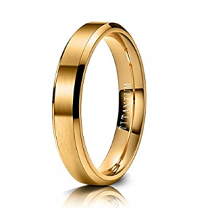 M MOOHAM Titanium Rings 4mm 6mm 8mm 10mm Wedding Bands Matte Beveled Edge Comfort Fit for Men now ..