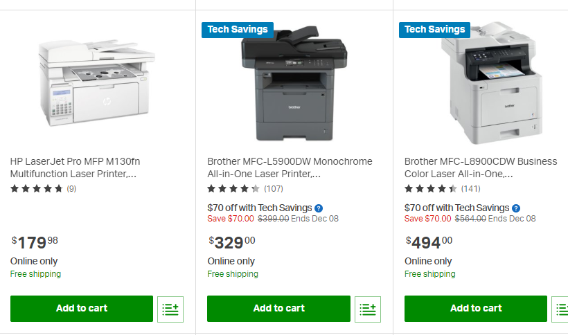 $60 OFF Brother MFC-L2707DW All-in-One Laser Printer @Sam's