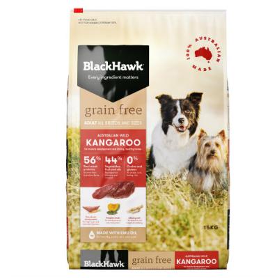 Black Hawk Adult Dog Food Grain Free Kangaroo 15kg