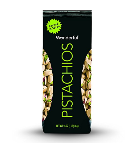 $4.74 Wonderful Pistachios, Roasted and Salted, 16 Ounce Bag @ Amazon